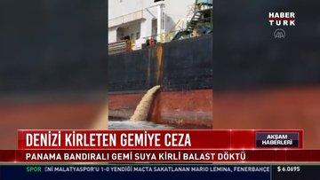 İzmit Körfezi'ni kirleten gemiye 635 bin lira ceza