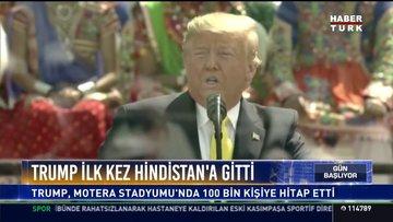 Trump ilk kez Hindistan'a gitti
