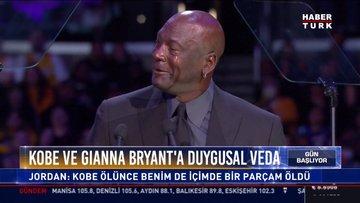 Kobe ve Gıanna Bryant'a duygusal veda