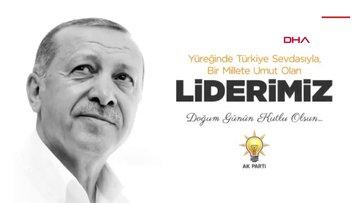 Cumhurbaşkanı Erdoğan'a Ak Parti Meclis grubundan doğum günü klibi