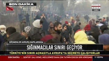 Sığınmacılar sınırı geçiyor