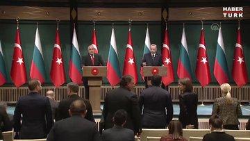 Cumhurbaşkanı Erdoğan, Bulgaristan Başbakanı Borisov ile ortak açıklama