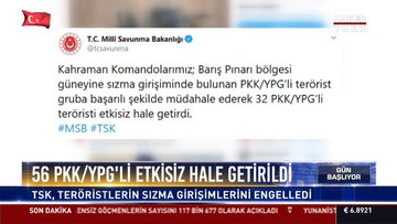 56 PKK/YPG'li etkisiz hale getirildi