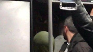 Metrobüste taciz iddiasına dayak