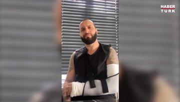 Berkay Şahin kolunu kırdı