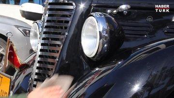 Rüyalarının klasik otomobiline 32 yıldır gözü gibi bakıyor