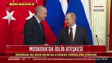 Cumhurbaşkanı Erdoğan ile Rusya Devlet Başkanı Vladimir Putin'den ortak açıklama