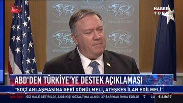 Abd'den Türkiye'ye destek açıklaması