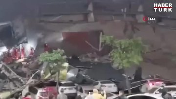Çin'de otel binası aniden çöktü: 23 kişi kurtarıldı