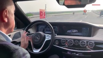 Cumhurbaşkanı Erdoğan, Çaykur Rizespor - Alanyaspor maçını aracından takip etti