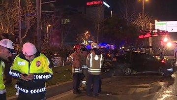 Beşiktaş'ta korkunç kaza! 2 ağır yaralı