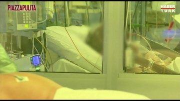 İtalyan hastanesinden karantina görüntüleri paylaşıldı