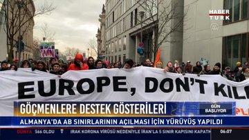 Göçmenlere destek gösterileri