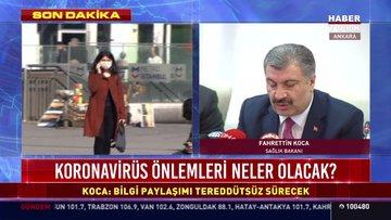 Koronavirüs Türkiye'de, Sağlık Bakanı Gelişmeleri Açıkladı