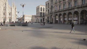 Koronavirüsle mücadele eden İtalya'da Milano sokakları boşaldı