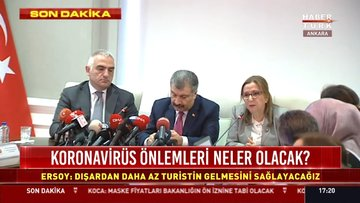 3 bakandan ortak koronavirüs açıklaması
