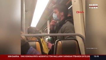 Ağzına götürdüğü elini metronun tutunma borusuna sürünce gözaltına alındı