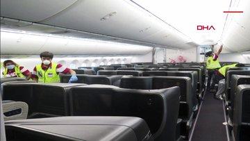 THY'nin İstanbul-Singapur uçaklarına çifte dezenfekte işlemi