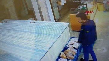 Girdiği pastanede önce baklava yedi, sonra sadaka kutusunu çaldı