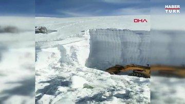 Askeri üs bölgesinde kar kalınlığı 10 metreyi aştı