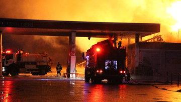 Bilecik'te akaryakıt istasyonunda korkutan yangın