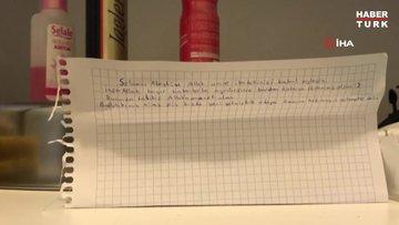 Karantina yurduna gelecek umrecilere bir öğrenci kolonya ve not bıraktı!
