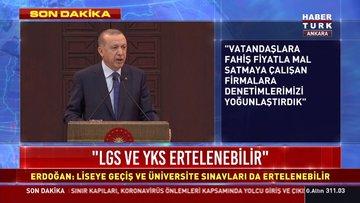 Cumhurbaşkanı Erdoğan, koronavirüs toplantısının ardından açıklama yapıyor