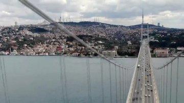 """İstanbul trafiğine """"korona"""" etkisi drone ile görüntülendi"""