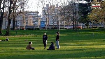 Karantinaya rağmen parkları doldurdular!
