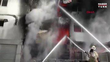Esenyurt'ta korkutan fabrika yangını