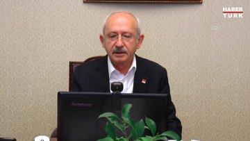 """Kılıçdaroğlu, CHP'li büyükşehir belediye başkanlarıyla """"Kovid-19"""" toplantısı yaptı"""