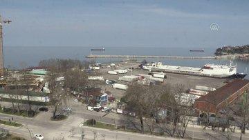 Ukrayna'dan gelen tır şoförleri ve gemi mürettebatı Zonguldak'ta öğrenci yurduna yerleştirildi