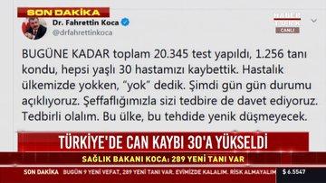 Bakan Koca: 9 ölü, 289 yeni tanı