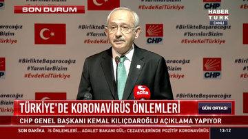 Kılıçdaroğlu'ndan koronavirüs önlemleri