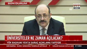SON DAKİKA: YÖK Başkanı Saraç: YKS'nin 25-26 Temmuz'da yapılacağını açıkladı