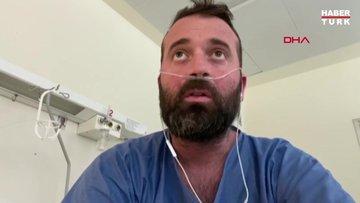 Koronavirüslü İtalyan hasta Suyun altında nefes alamamak gibi etkisi var
