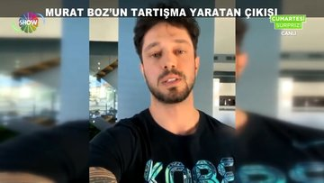 Murat Boz'un tartışma yaratan çıkışı!