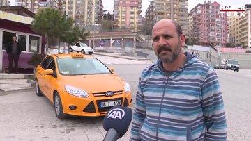 """Başkentte iki taksi durağının plaka kısıtlamasında """"tek-çift"""" şanssızlığı"""