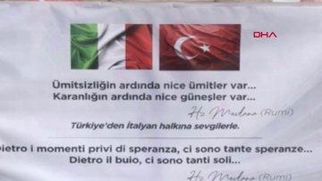 İtalyan çocuktan Türkiye'ye duygu dolu mesaj