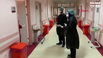 Koronavirüs tedavisi tamamlanan 20 kişi alkışlar arasında taburcu oldu