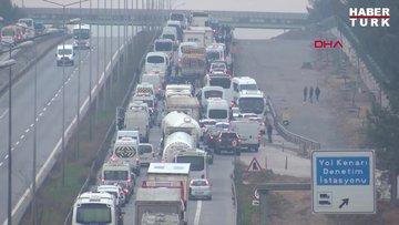 İstanbul'a araç giriş çıkışı durduruldu