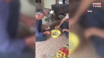 Koronavirüse karşı emekli maaşını kaynar suda yıkadı