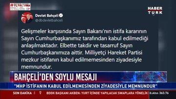Bahçeli'den Soylu'nun istifasına ilişkin açıklama