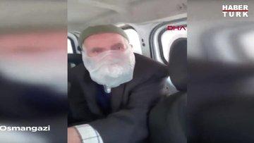 Poşeti maske şeklinde kullanan yaşlı adamın ihtiyaçları belediye ekiplerince karşılandı