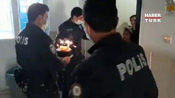 11 yaşındaki Nurten'e pasta sürprizi