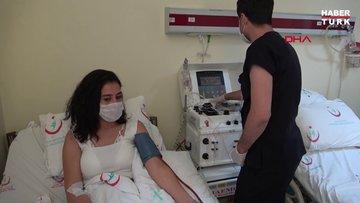 Koronavirüsü yenen sağlıkçı Melek'ten, iki kez immün plazma bağışı
