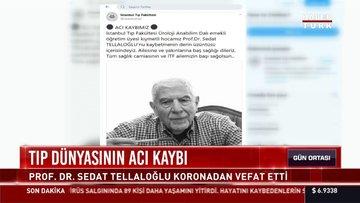 Prof. Dr. Sedat Tellaloğlu koronavirüs nedeni ile hayatını kaybetti