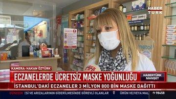 Eczanelerde ücretsiz maske yoğunluğu