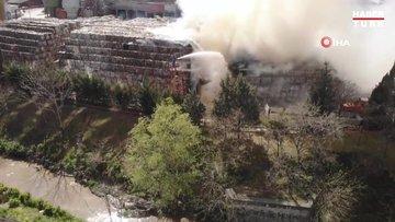 Halkalı'da kağıt fabrikasında yangın