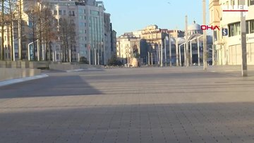 Sokağa çıkma kısıtlamasının ilk gününde İstanbul'da yollar boş kaldı